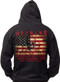 Men's Warning Flag - American Pride - Warning Flag Hoodie Back
