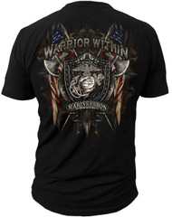 Men's Marines Warrior Within T-Shirt - Marines - Men's T-Shirt (Back)
