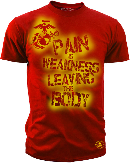 Men's Marines T-shirt - Pain is Weakness Leaving the Body Performance T-Shirt