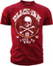 Black Ink's Mens Live to Ride T-Shirt Red