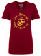 Once a Marine Wife - Always a Marine Wife - Red V-neck