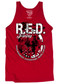 Men's R.E.D. Friday T-Shirt - American Pride - Remember Everyone Deployed - Red Tank Top
