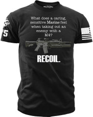 Marines T-Shirt - What Does a Marine Feel? Recoil. Men's T-Shirt