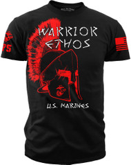 Marine Corps Shirt - Warrior Ethos Men's Black Shirt