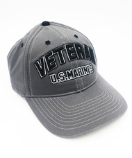 U.S. Marines Veteran Embroidered Cap (BIC-762CHA) Front
