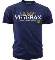 Men's U.S. Navy Veteran - Proud to Have Served T-Shirt  - Navy- Front