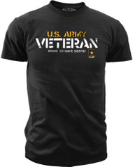 Men's U.S. Army Veteran - Proud to Have Served T-Shirt  - Front
