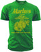 "Men's Marines T-Shirt - US Marines Classic ""The Few The Proud"" - Green - Front"