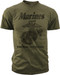 """Men's Marines T-Shirt - US Marines Classic """"The Few The Proud"""" - Olive - Front"""