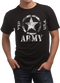 """Men's Army T-Shirt - US Army """"Classic Star U.S.A""""  - Black - Model - Front"""