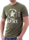 """Men's Army T-Shirt - US Army """"Classic Star U.S.A""""  - Olive - Model - Front"""