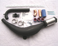 Expansion Chamber - BLACK - Exhaust Pipe