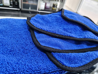 Microfibre Premium Dual Pile Towel 500gsm 40x40cm Royal Blue