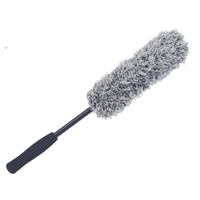 Premium Microfibre wheel brush Black/White