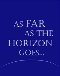 Horizon Quote / Verse Printable Wall Decor Instant Download, Cobalt Blue Wall Art