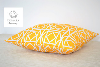 """""""Abagail"""" Yellow WATERPROOF LARGE OUTDOOR Cushion Cover 22"""""""