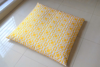 """Yellow WATERPROOF OUTDOOR FLOOR CUSHION Cover LARGE 35"""""""