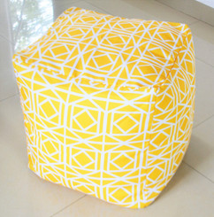 Yellow Pouf / ottoman WATERPROOF IN/ OUTDOOR 16""