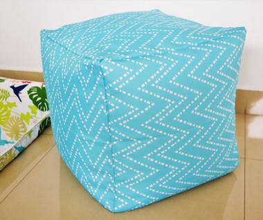 Aqua Pouf / Ottoman WATERPROOF IN/ OUTDOOR 16""