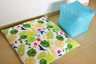 TROPICAL WATERPROOF IN/ OUTDOOR FLOOR CUSHION Cover LARGE 35""