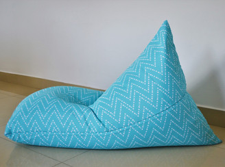 EXTRA LARGE Waterproof BEAN BAG Cover In/ Outdoor  Aqua/Turquoise