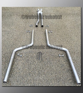 06-10 Dodge Charger Dual Exhaust Tubing - 2.25 inch Stainless