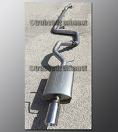98-03 Ford Escort ZX2 Exhaust - 2.5 inch Aluminized with Borla