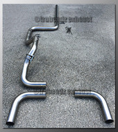 00-05 Dodge Neon Dual Exhaust Tubing - 2.25 Inch Stainless