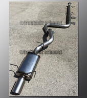 07-12 Nissan Sentra Exhaust - 2.5 inch Aluminized with Magnaflow