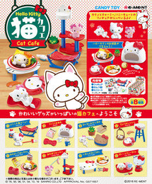 Re-Ment - Miniature Sanrio - Hello Kitty Cat Cafe 8 Pack Box