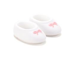 PetWORKs Closet - DecoNiki Shoes, Ballet Flats, White x Mauve-Pink