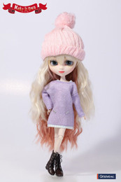 O-820 - MIO Pullip Knit One-piece Dress Lilac Version Outfit Selection