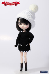 O-819 - MIO Pullip Knit One-piece Dress Black Version Outfit Selection