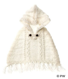 PetWORKs Closet - Knit Hood Cape - White
