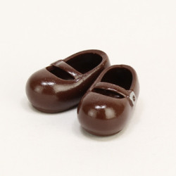 OBITSU BODY ACCESSORY - Obitsu Body 11cm Round Toe Strap Shoes - Dark Brown