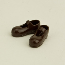 OBITSU BODY ACCESSORY - Obitsu Body 11cm Mary Jane Strap Shoes - Dark Brown