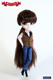 O-822 - MIO Pullip Vest & Jeans Set Casual Version Oufit Set