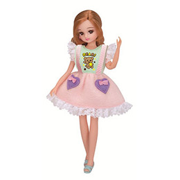 Licca-chan Dress: LW-01  Licca Cotton Candy Dress Set