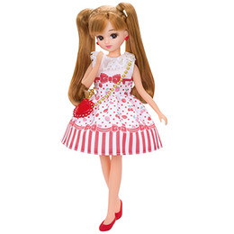 Licca-chan Dress: LW-03  Licca Cherry Berry Dress Set