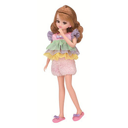 Licca-chan Dress: LW-06  Licca Mokomoko Room Wear Dress Set