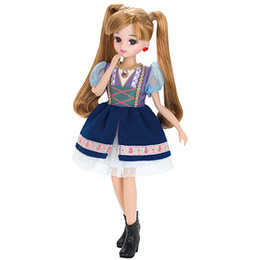 Licca-chan Dress: LW-11 Sweet Tyrolean Dress Set