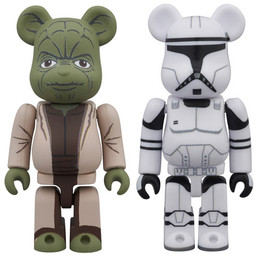 BE@RBRICK Star Wars Yoda (EP2) & Clone Trooper (EP2) 2 Pack
