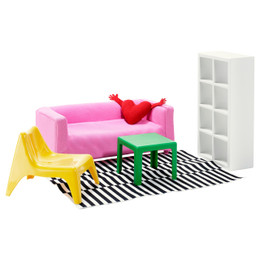 IKEA HUSET Doll's Furniture, Living Room
