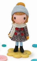 Minette - Tweed Coat / Rouge