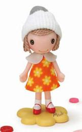 Minette - Flower One-piece Dress / Orange