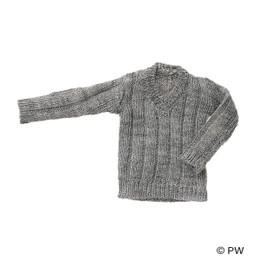 PetWORKs Closet - V Neck Knit Heather Gray