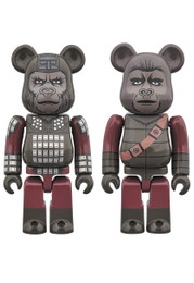 "BE@RBRICK ""Planet of The Apes"" GENERAL URSUS & SOLDIER APE 2 Pack"