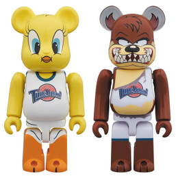 BE@RBRICK Space Jam Tweety Bird & Tasmanian Devil 2 Pack