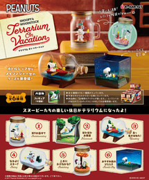 Re-Ment - Snoopy - Snoopy & Woodstock Terrarium On Vacation 6 Pcs Set