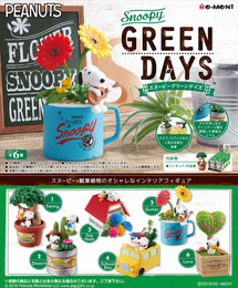 Re-Ment - Snoopy - Snoopy Green Days 6 Pcs Set
